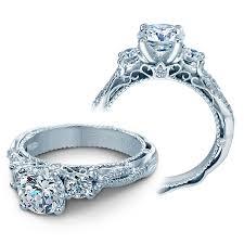 Wedding Rings by Verragio Engagement Rings 5013r 4 Gld 0 45ctw Diamond Setting