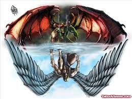angel vs devil tattoos design tattoo viewer com