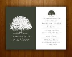 memorial announcement wording memorial service funeral invitation card ideas wording