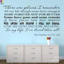 online buy wholesale song lyrics wall stickers from china song the beatles song lyrics wall sticker living room in my life inspiration song lyrics wall decal