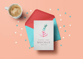 open and closed square greeting card mockup mockupworld