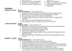 Examples Of Server Resumes by Server Resume Sample Waitress Name Waitress Resume Skills