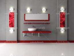 red and black bathroom decor