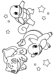 pokemon squirtle coloring pages squirtle charmander and pikachu coloring pages sketch coloring page