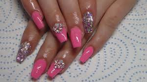 acrylic nails princess party mix full set youtube