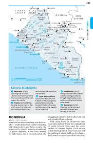 Liberia Africa Map by Lonely Planet West Africa Travel Guide Lonely Planet