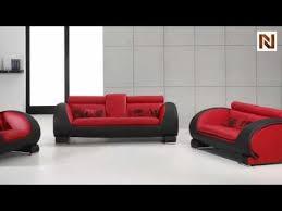 Red Sofa Sets by Red U0026 Black Bonded Leather Sofa Set Vgdm2811rb Bl Youtube