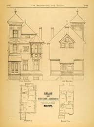 Victorian Era House Plans Old Classic Floor Plans 1890s 2 Story Home Artistic City Houses