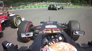 f1 2016 spa fracorchanps belgium on board start and crash