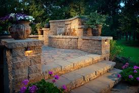 exterior design traditional backyard design with belgard pavers