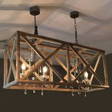 Crystal Drops For Chandeliers Impressive Wood And Crystal Chandelier I Love The Rustic Opacity