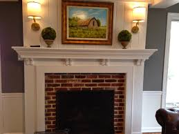 the brick use to go all the way to the ceiling a new mantle was