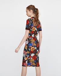 coloured dress coloured ribbed dress midi dresses woman zara