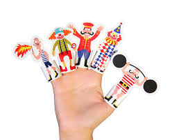 circus puppets circus paper finger puppets printable pdf diy kit paper
