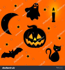 halloween background symbols halloween black cartoon stock vector