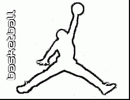 fantastic jordan logo coloring pages with sports coloring pages
