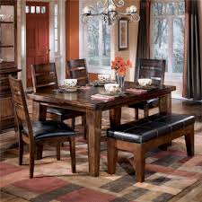 ashley d442 25 01 00 larchmont 6 piece rectangular dining room