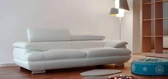 White Contemporary Sofa by Contemporary Sofa Leather 3 Seater White Magic Caliaitalia