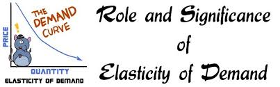 and significance of elasticity of demand