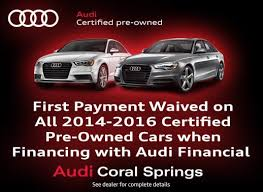 audi cpo lease certified pre owned vehicle specials at audi coral springs