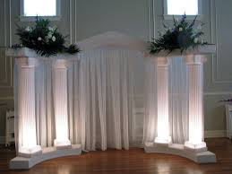 wedding arches with lights decorating
