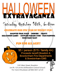 halloween extravaganza town of bowdoinham