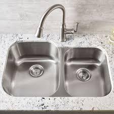 Two Bowl Kitchen Sink by Prevoir Stainless Steel Undermount 2 Bowl Crease Bottom Kitchen