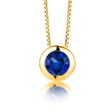 byjoy jewellery byjoy 925 gold plated cut sky blue topaz pendant on 45cm box