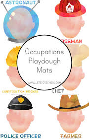 occupations playdough mats community helpers activities and