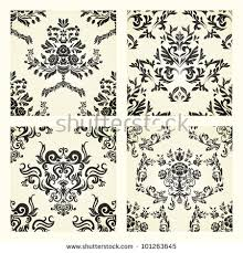 damask wallpaper vintage pattern seamless stock vector