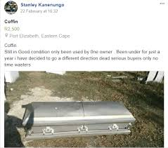 coffin for sale second coffin for sale zimbo hits the headlines in mzansi
