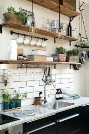 le suspendue cuisine etagare suspendue cuisine etagere murale cuisine cuisine rustique