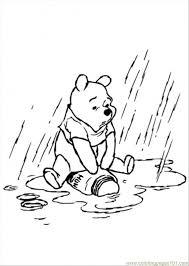 pooh rainy coloring free winnie pooh