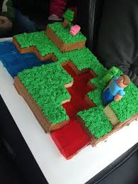 image result easy minecraft cake birthdays