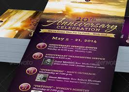 church anniversary events rack card template godserv