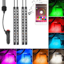 amazon com saimly 4 piece multicolor led interior underdash
