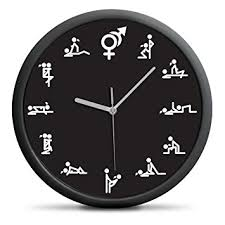 kamasoutra dans la cuisine oramics horloge murale design original du