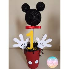 mickey mouse center pieces mickey mouse centerpieces 1st birthday