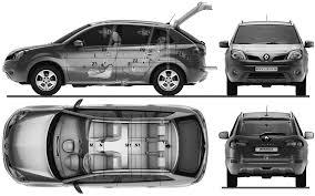 renault suv koleos car blueprints 2009 renault koleos 4x4 suv blueprint