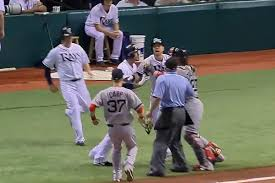 Red Sox Yankees Benches Clear Red Sox Rays Benches Clear In Skirmish Sbnation Com
