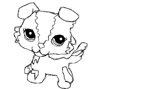 littlest pet shop coloring pages of dogs littlest pet shop dog coloring pages cute lps dog colouring pages