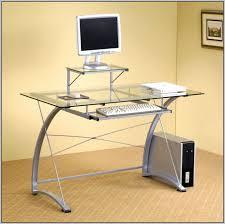 Glass Top Computer Desks For Home Glass Top Desk Ikea Roselawnlutheran