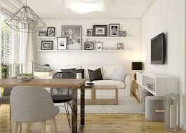kleines esszimmer kleines wohnzimmer mit essplatz in weiß schwarz und holz