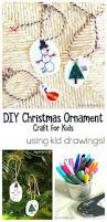 kid made ornaments using shrink film buggy and buddy