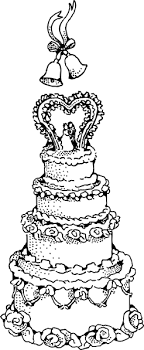 wedding cake outline wedding cake clip at clker vector clip online