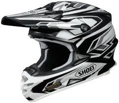 Shoei Vfx W Block Pass Motocross Helmet Black White Gunmetal