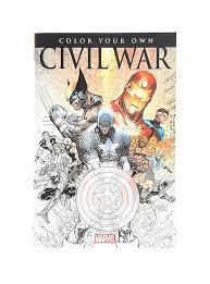 marvel color civil war book topic