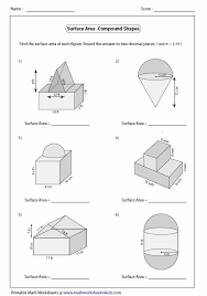 volume of 3d shapes worksheet free worksheets library download