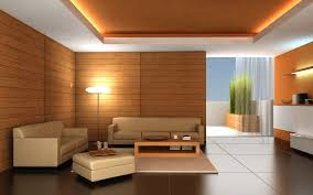 informal living room interior with brown fabric sofa also