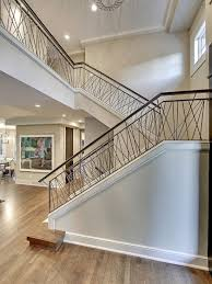 Design For Staircase Railing Contemporary Stair With Hand Railing Transitional Staircase Great